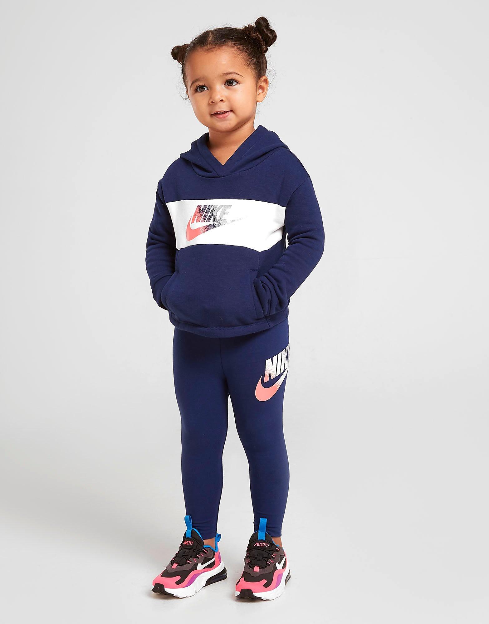 Nike Girls Shine Overhead Trainingspak Baby's alleen bij JD Blauw Kind B