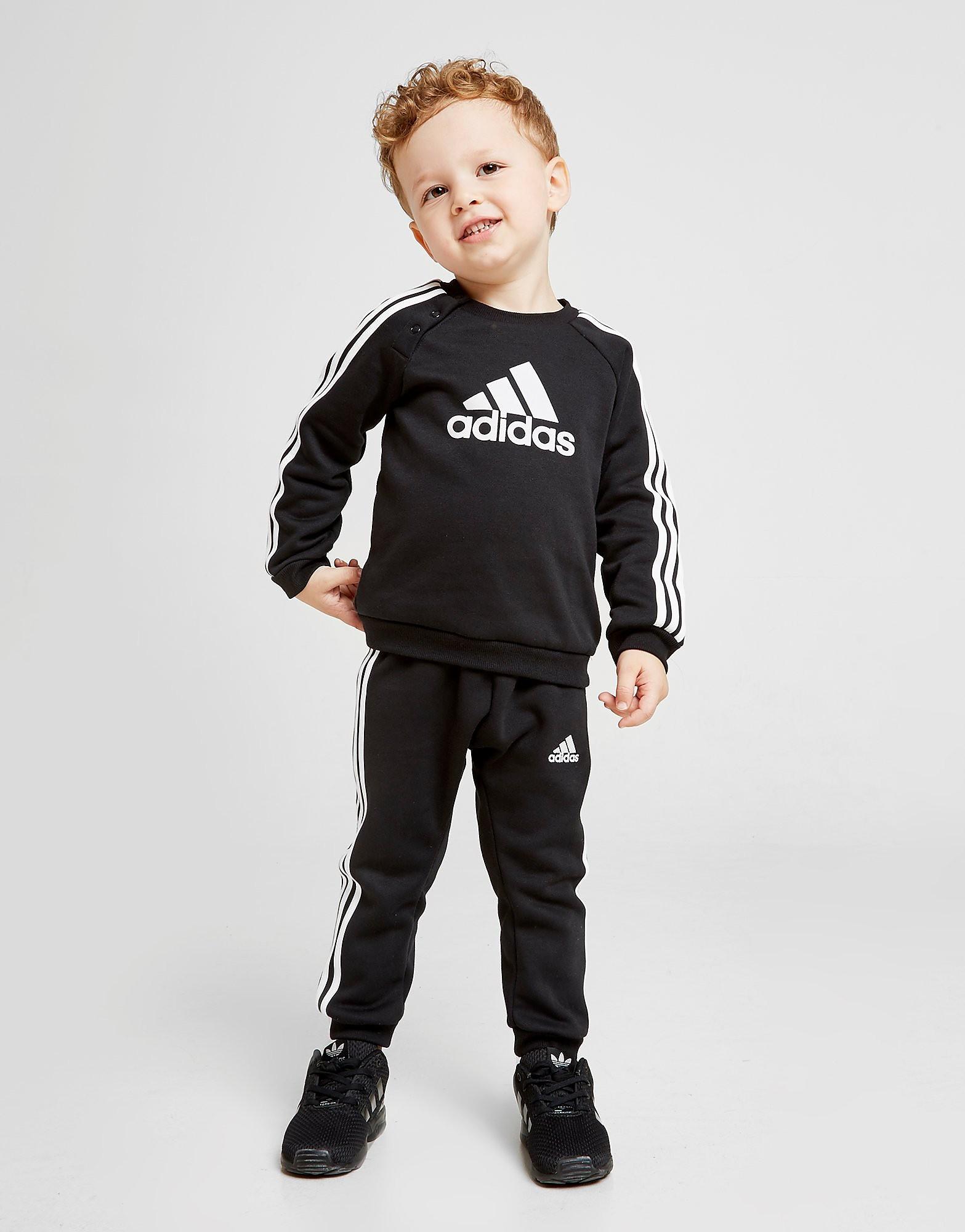 adidas Badge of Sport Crew Suit Baby's Zwart Kind
