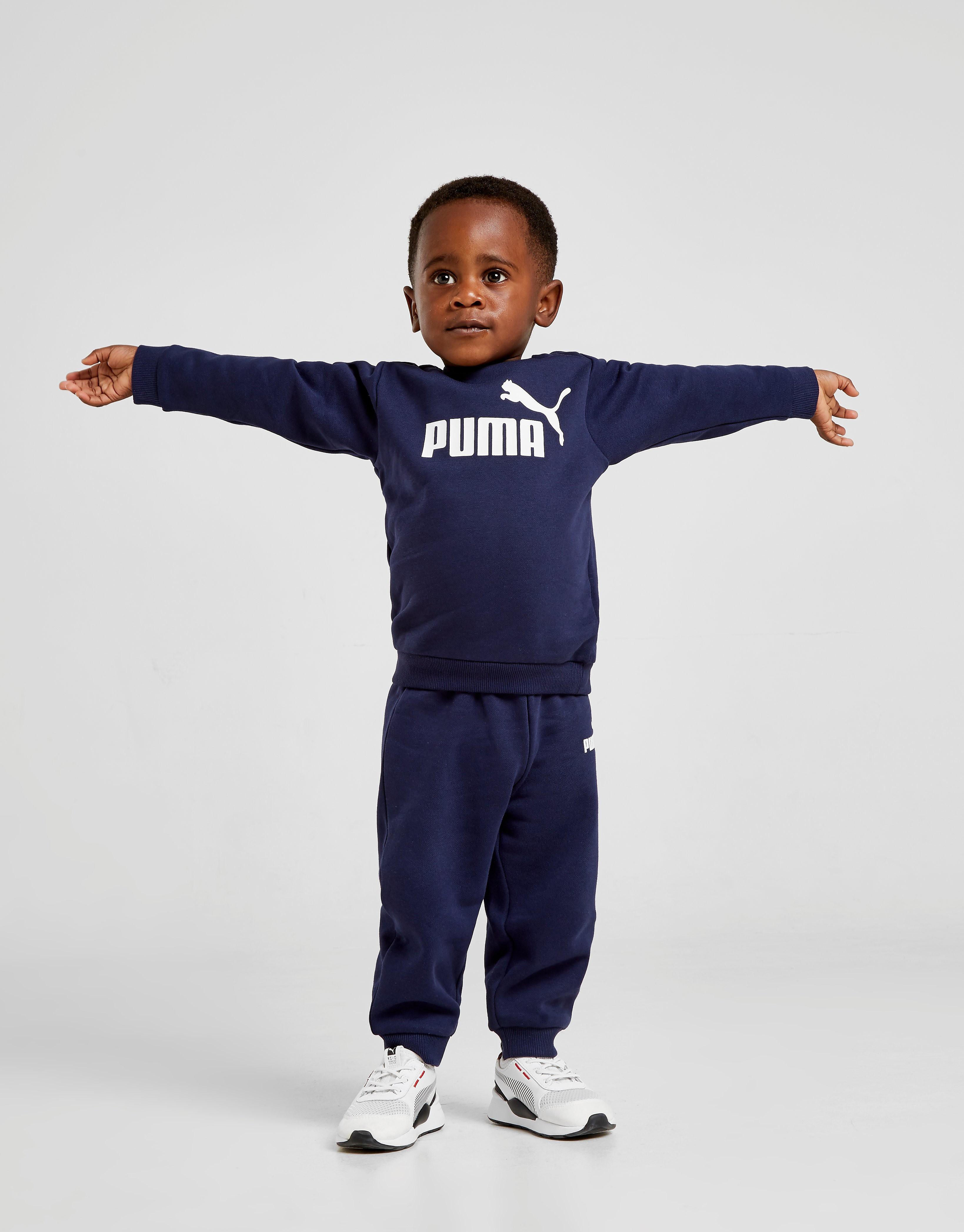 PUMA Logo Crew Trainingspak Baby's alleen bij JD Blauw Kind Blauw