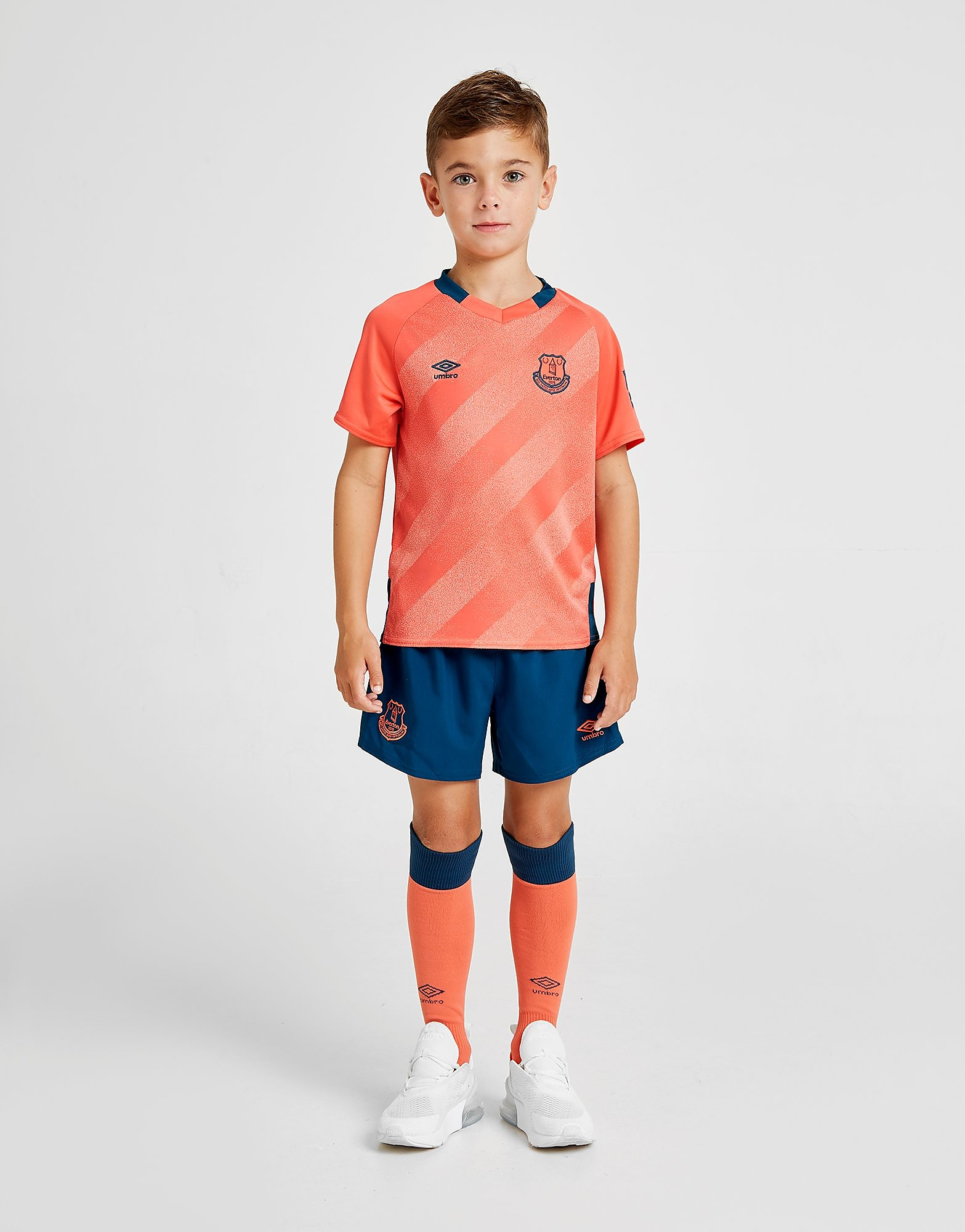 Umbro Everton FC 2019/20 Away Kit Children Roze Kind