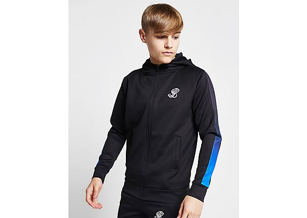 ILLUSIVE LONDON Poly Fade Panel Full Zip Hoodie Junior - Black/Blue - Kind