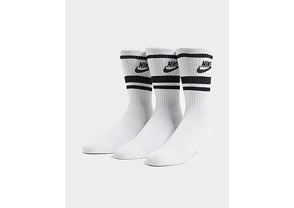 Nike pack de 3 calcetines Essential Crew, White/Black