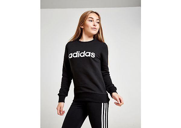 Comprar Ropa deportiva para niños online adidas sudadera  Girls' Linear Cew  júnior, Black