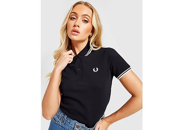 Ropa deportiva Mujer Fred Perry polo Tipped, Black/White
