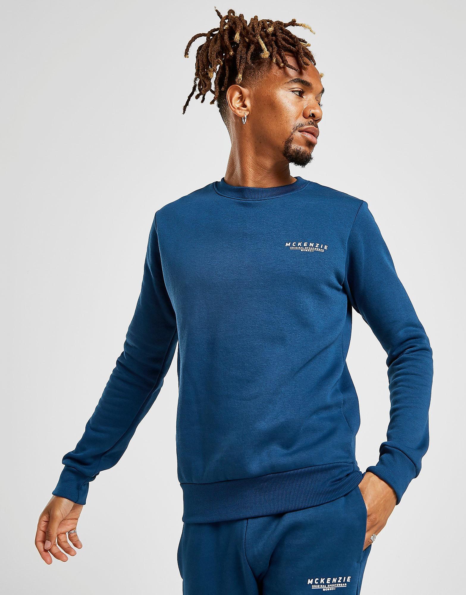 McKenzie Essential Crew Sweatshirt Heren - alleen bij JD - Blauw - Heren