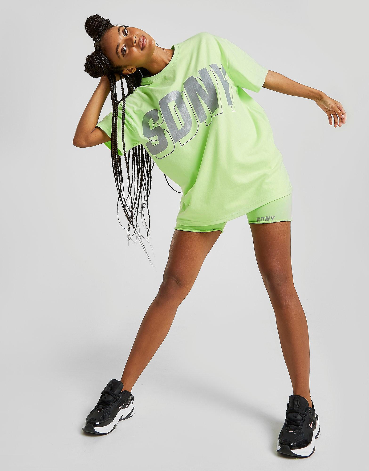 Supply & Demand Rider Oversized Reflective T-Shirt Dames - Groen - Dames