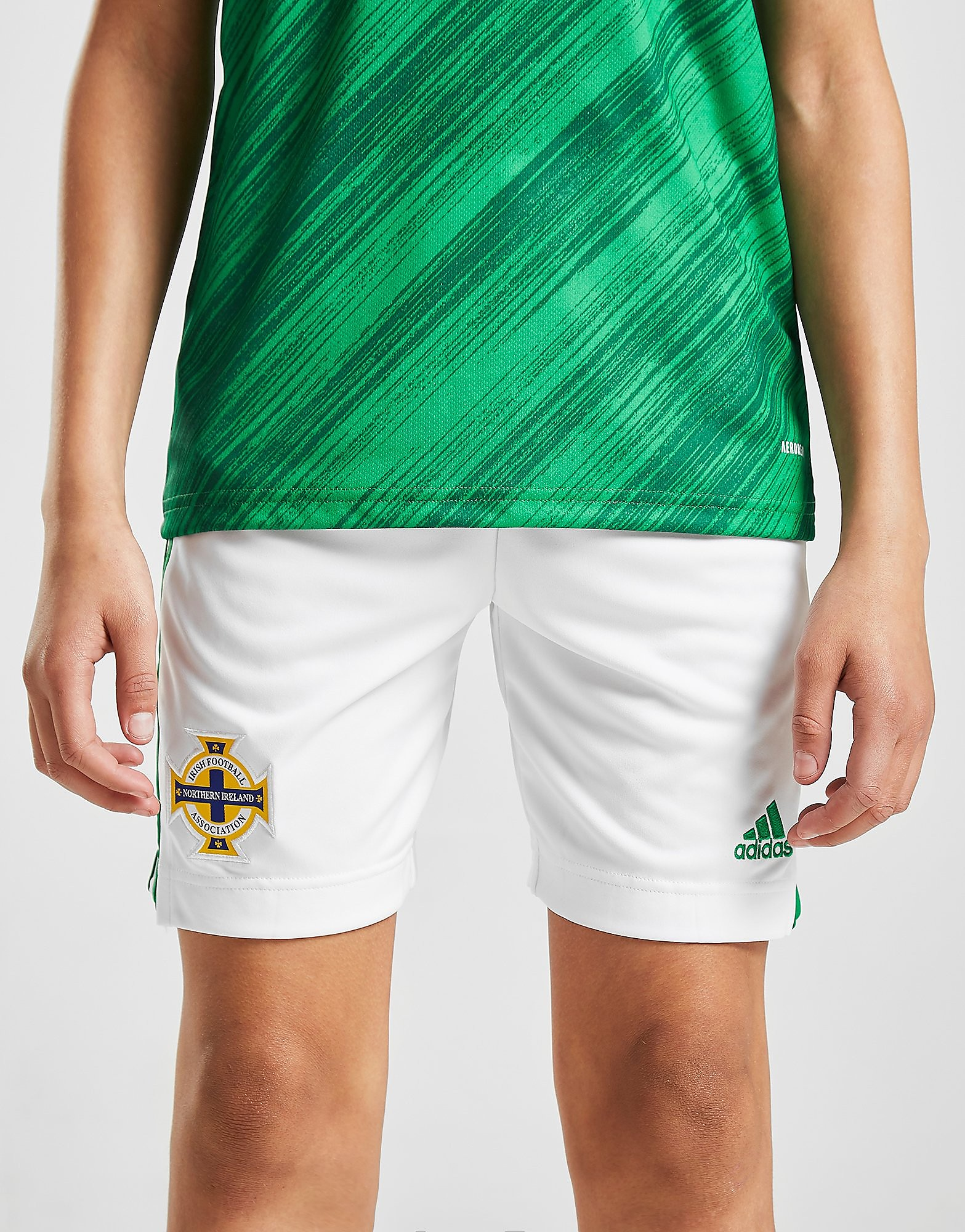 adidas Northern Ireland 2020 Home Shorts Junior Wit Kind Wit