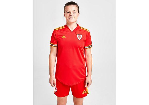 Ropa deportiva Mujer adidas camiseta selección de Gales 2020 1.ª equipación para mujer, Red/Yellow
