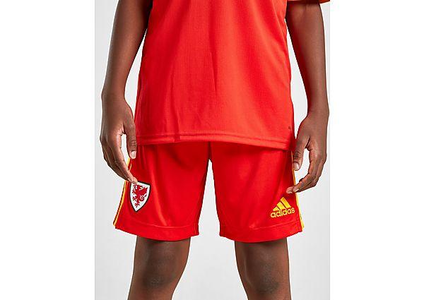 adidas pantalón corto selección de Gales 2020 1.ª equipación júnior, Red/Yellow