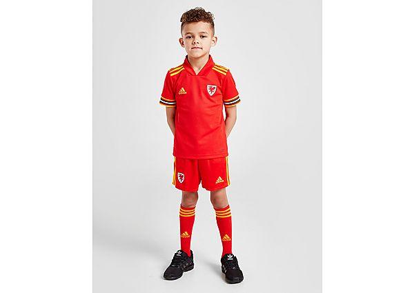 adidas conjunto selección de Gales 2020 1.ª equipación infantil, Red/Yellow