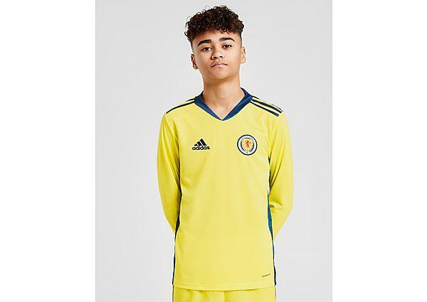 adidas camiseta de portero selección de Escocia 2020 1. ª equipación júnior, Yellow/Blue