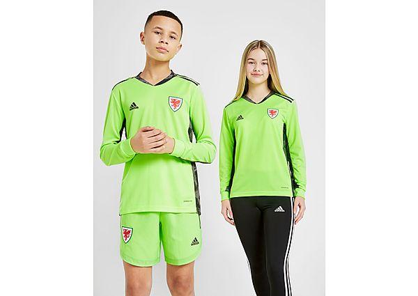 adidas camiseta de portero selección de Gales 2020 júnior, Yellow