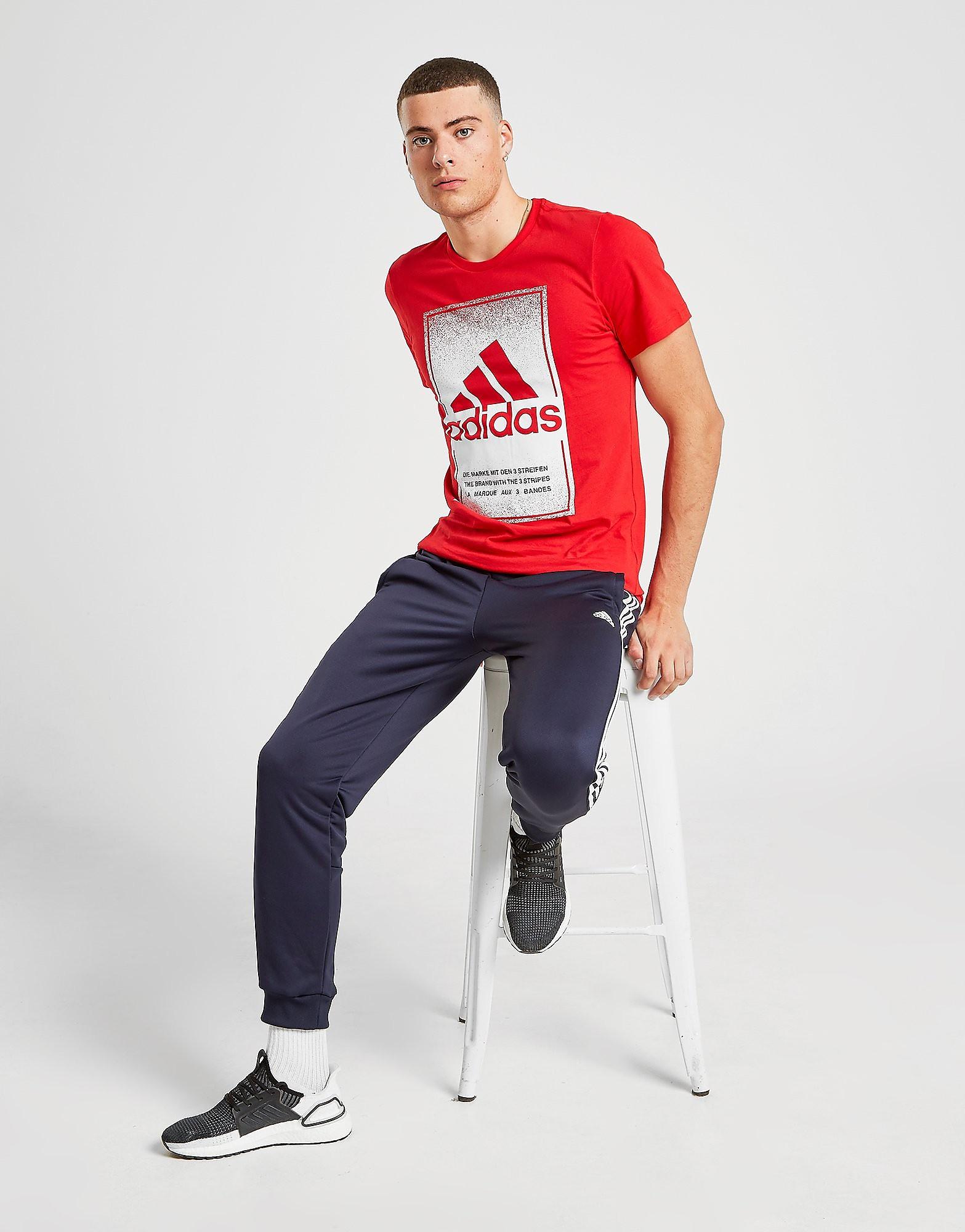 adidas Badge Of Sport Fade T-Shirt Rood Heren