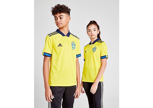 adidas selección de Suecia 2020 1. ª equipación camiseta júnior, Yellow/Blue