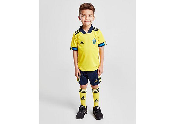 adidas equipaje Sweden 2020 1.ª equipación infantil, Yellow/Navy