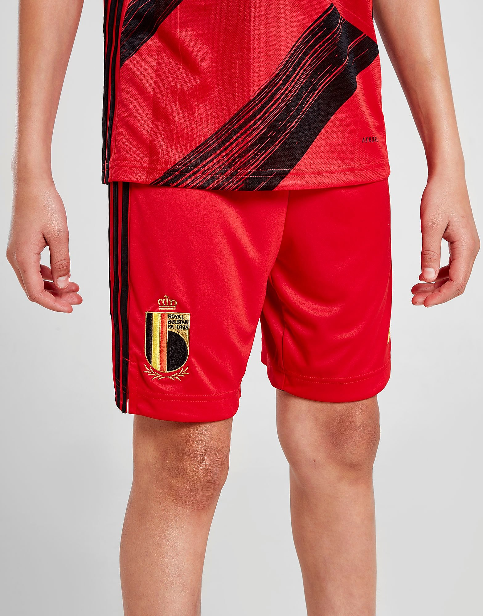 adidas Belgium 2020 Home Shorts Junior Rood Kind Rood