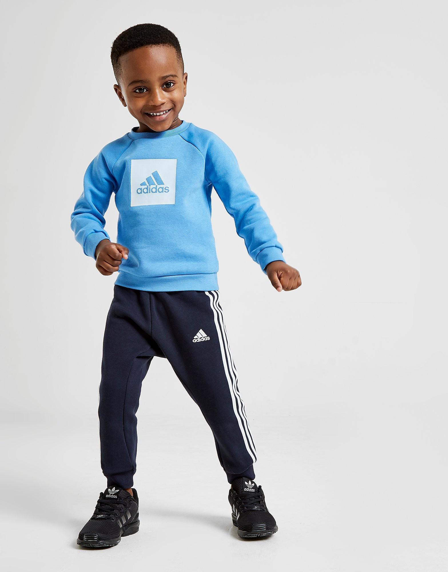 adidas Badge Of Sport Box Trainingspak Baby's Blauw Kind