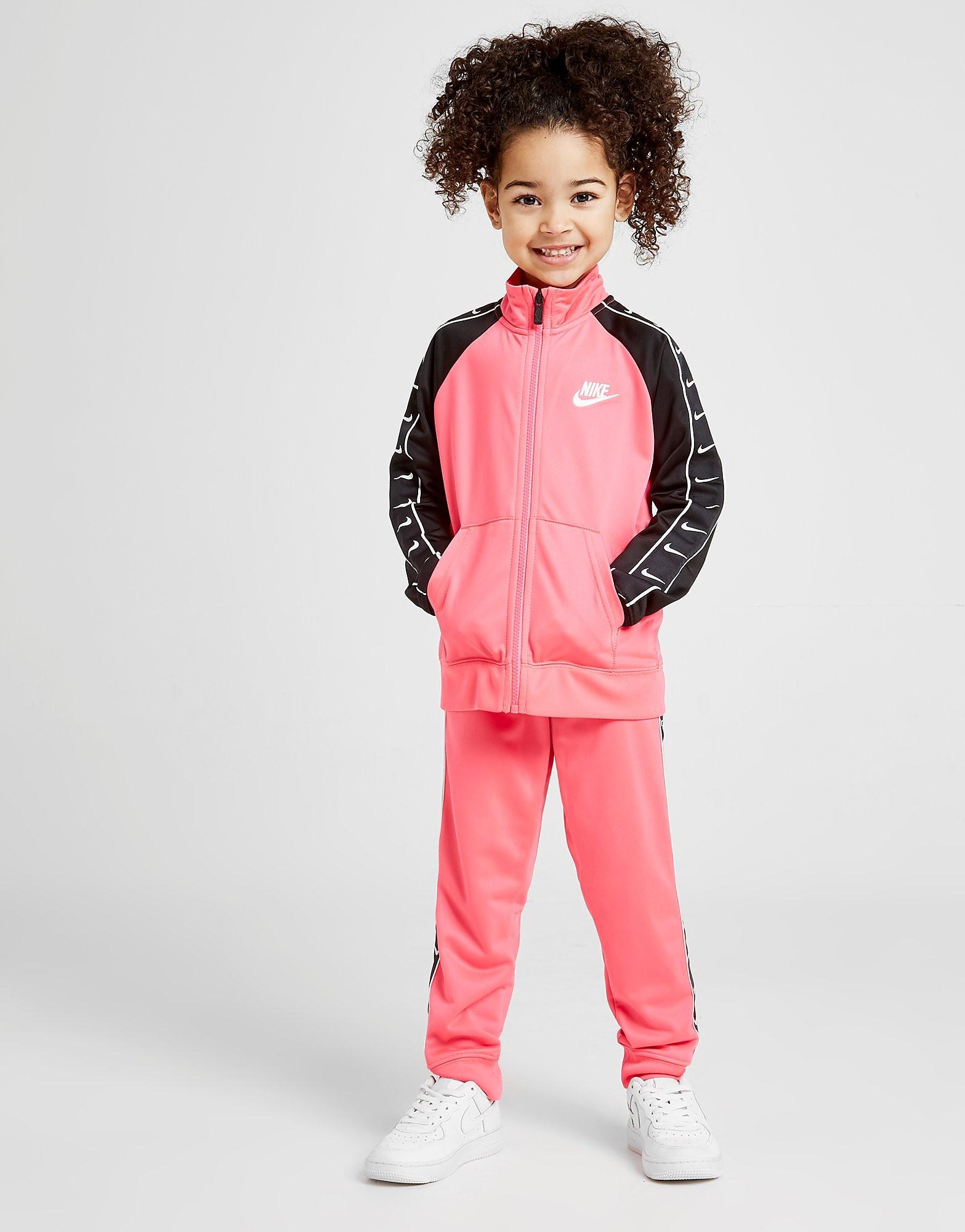 Nike Girls Swoosh Tape Trainingspak Kinderen Roze Kind Roze
