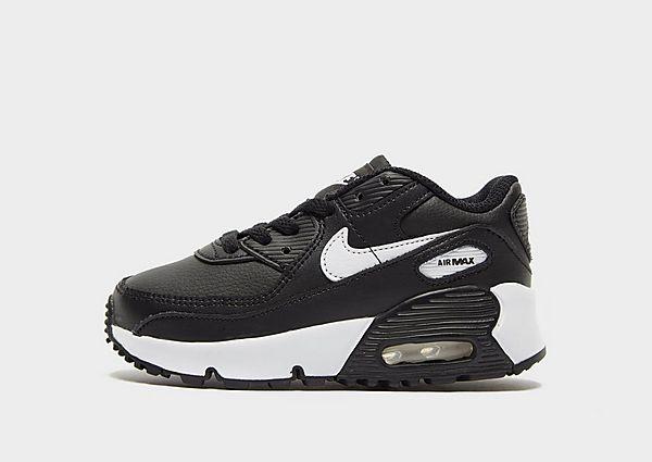 Nike Air Max 90 Leather para bebé, Black/White