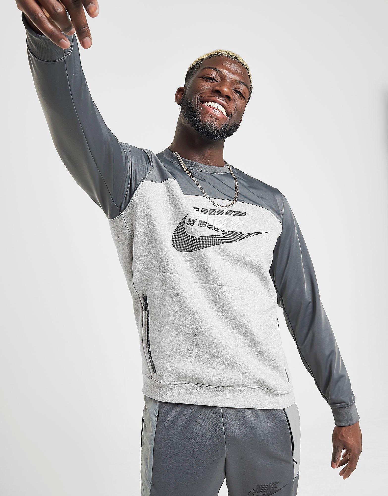 Nike Hybrid Crew Sweatshirt Heren alleen bij JD Grijs Heren Grijs