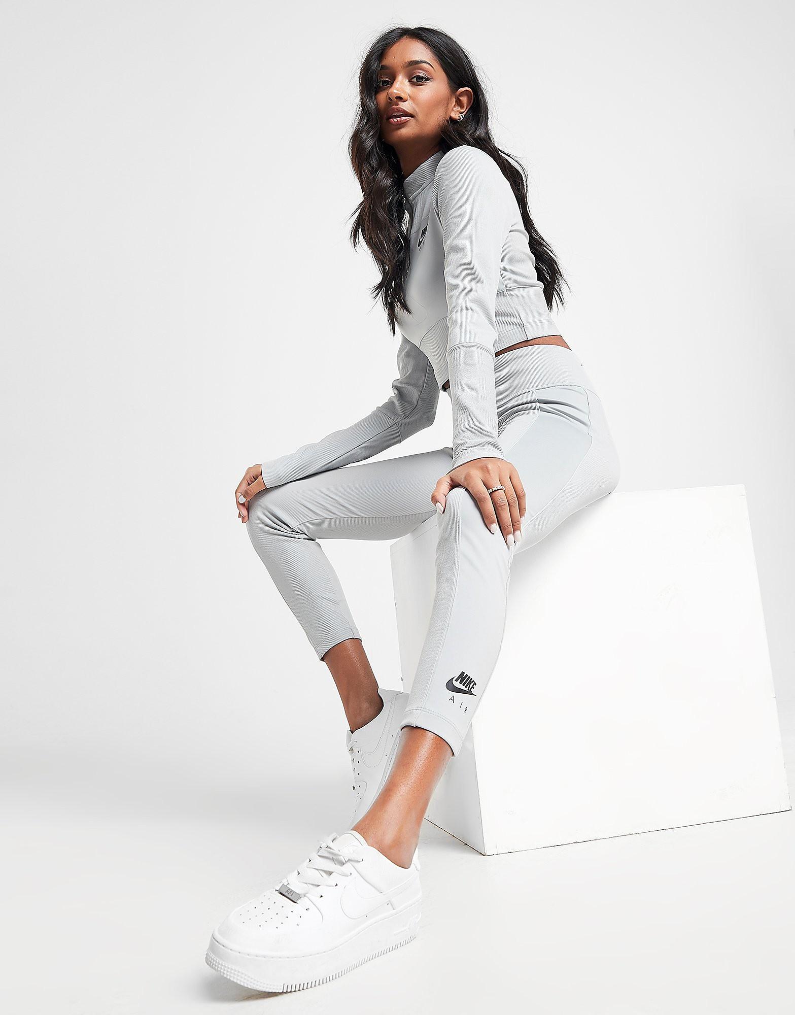 Nike Air Ribbed Leggings alleen bij JD Grijs Dames Grijs