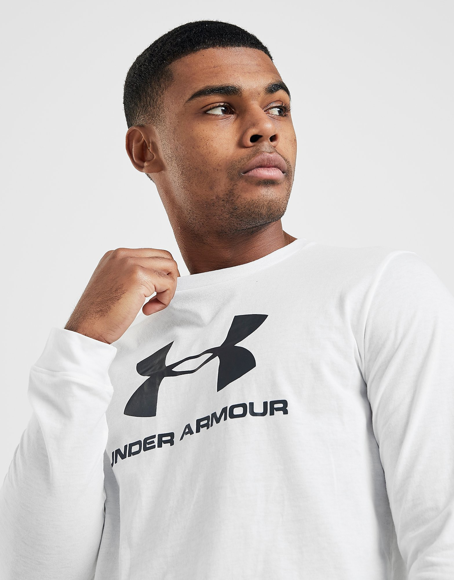 Under Armour Sport Style Logo Long Sleeve T-Shirt Wit Heren Wit