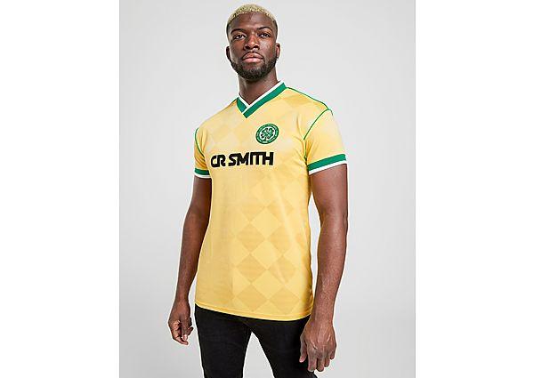 Celtic Retro camiseta Celtic FC '88 2.ª Equipación Short Sleeve, Yellow/Green