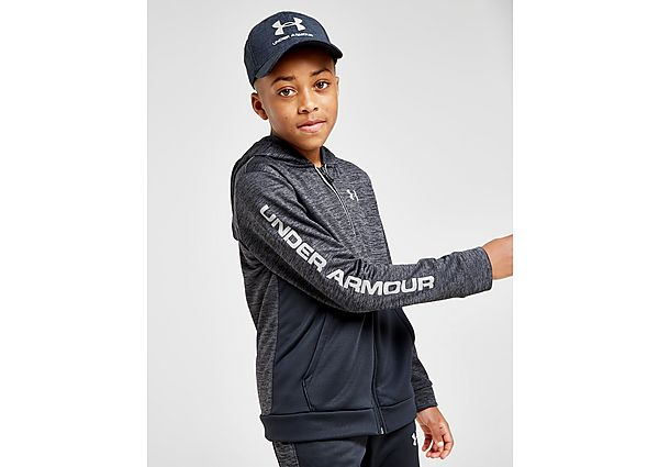 Under Armour Fleece reflecterende hoodie met volledige ritssluiting Junior - Black/Grey - Kind