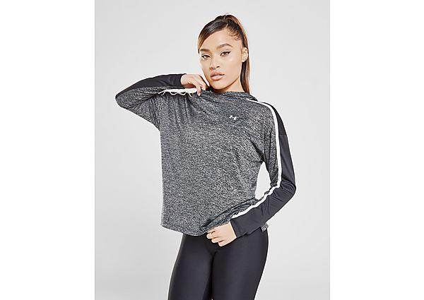 Ropa deportiva Mujer Under Armour sudadera con capucha Tech Twist Graphic, Grey/White