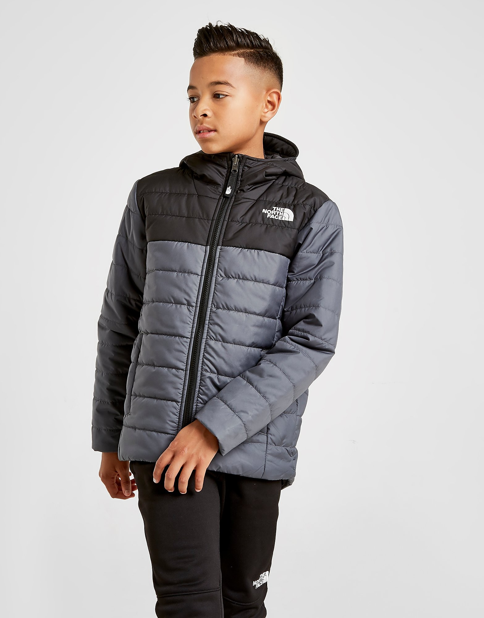 The North Face Perrito Reversible Jacket Junior Grijs Kind Grijs