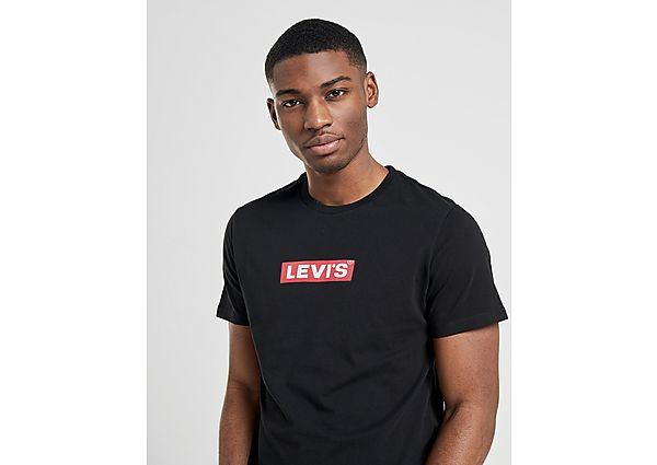 Levis camiseta Box Tab, Black/Red