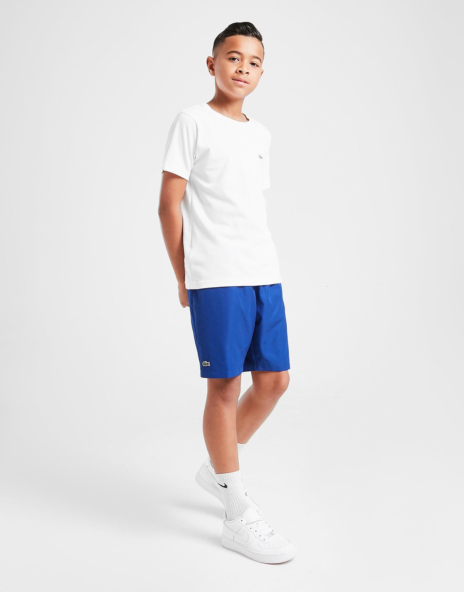 Lacoste Woven Shorts Junior Blauw Kind Blauw
