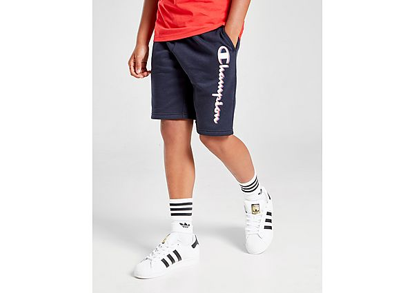 Champion French Terry Logo Shorts Junior - Blue - Kind