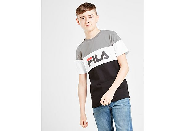 Fila Piyon Colour Block T-Shirt Junior - Black/Grey/White - Kind