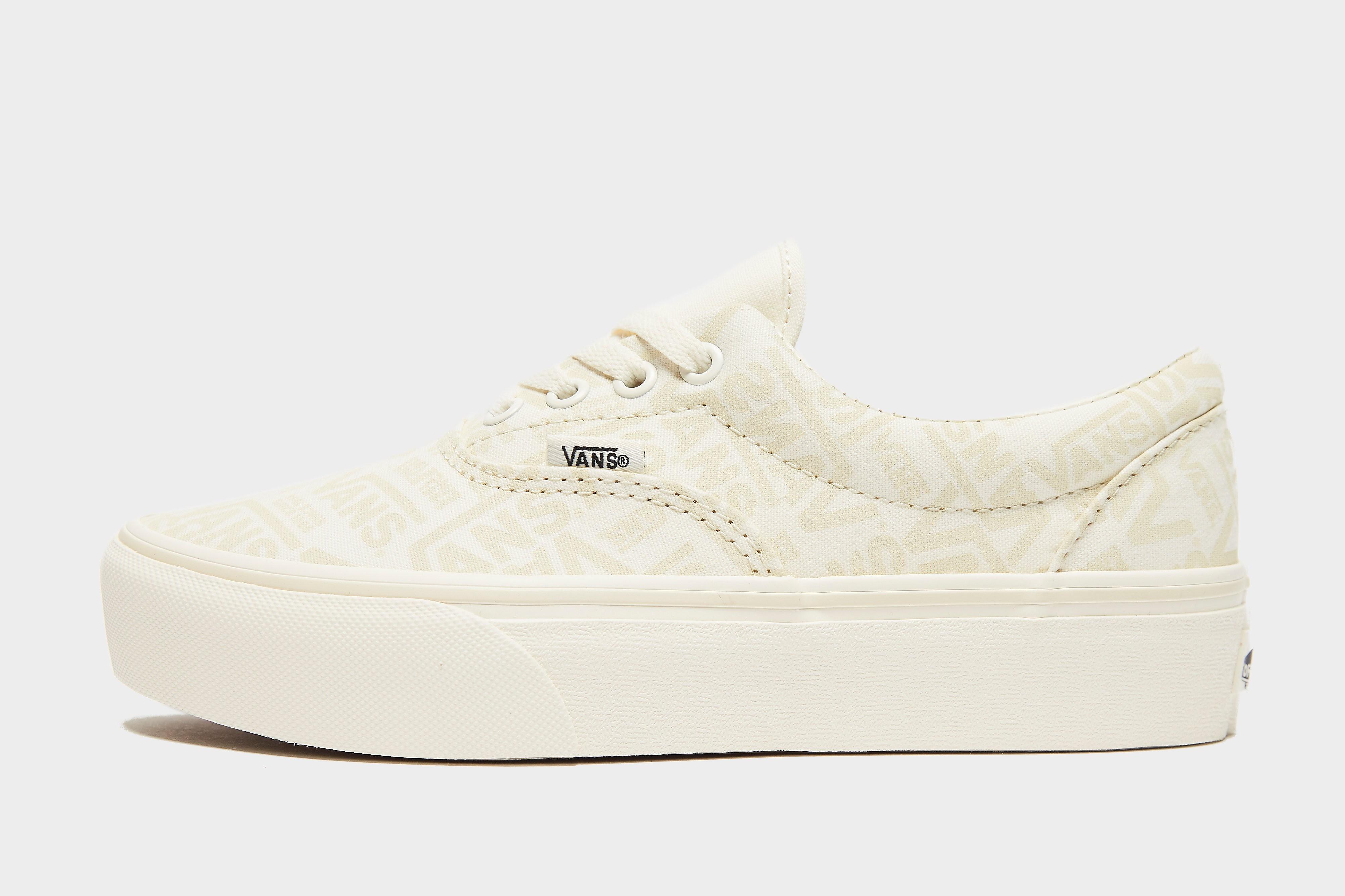 Vans Era Platform para mujer, Blanco