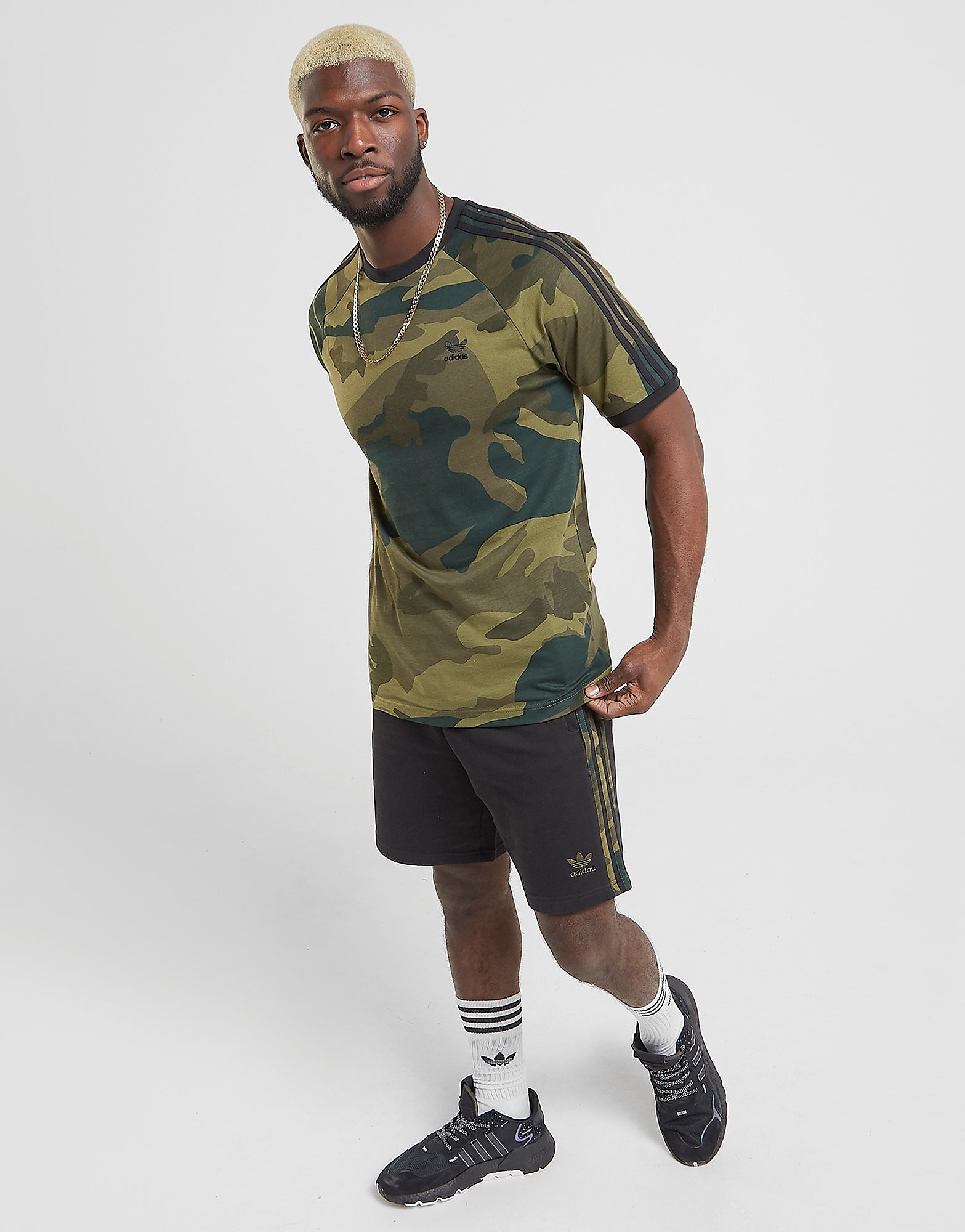 adidas Originals Camo Shorts Heren Zwart Heren Zwart