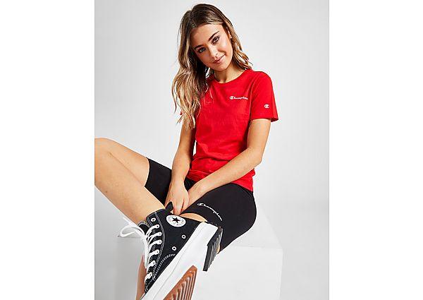 Ropa deportiva Mujer Champion camiseta Small Script Logo, Red