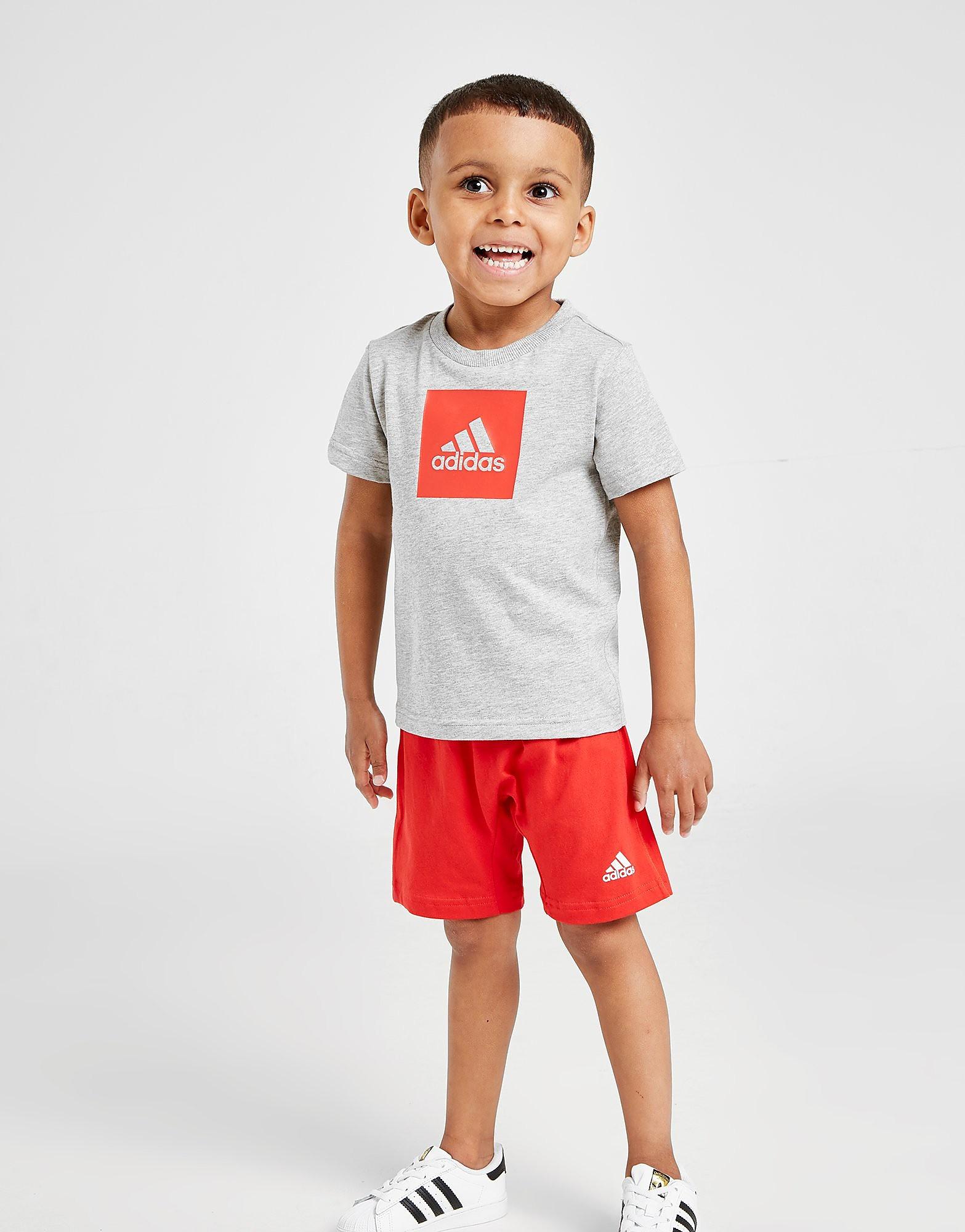adidas Badge of Sport T-Shirt/Shorts Set Infant Grijs Kind