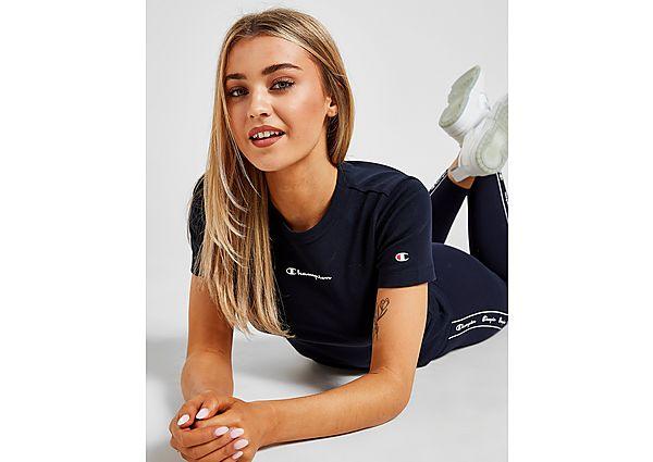 Ropa deportiva Mujer Champion camiseta crop Small Logo Slim, Navy