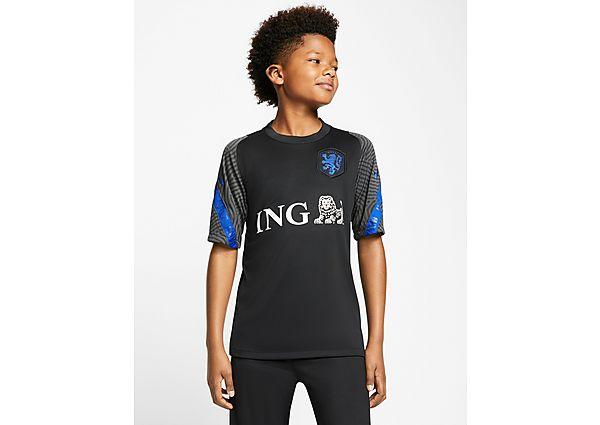Nike camiseta Países Bajos Strike júnior, Black
