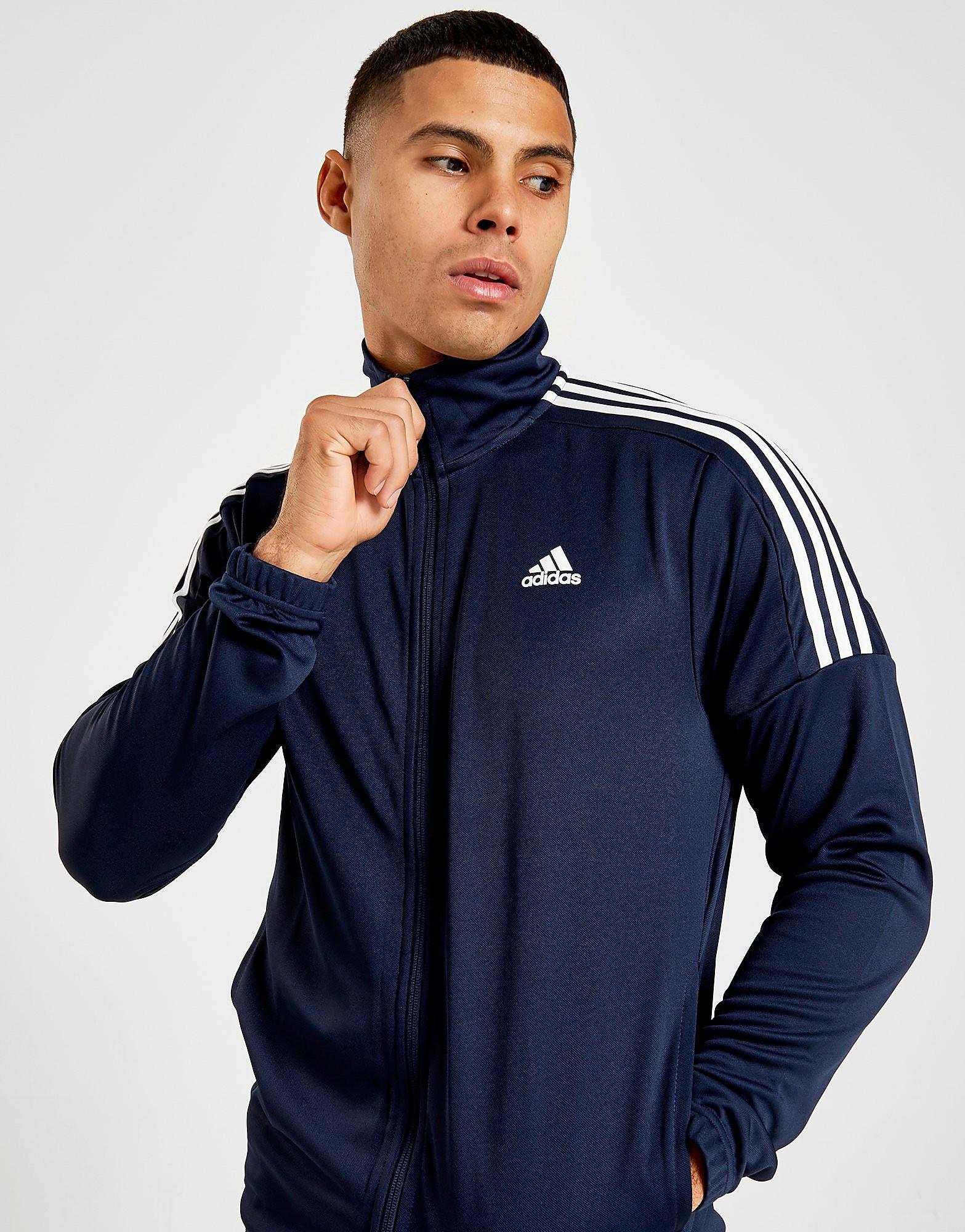 adidas Badge of Sports Poly Funnel Track Top Heren Blauw Heren Blauw