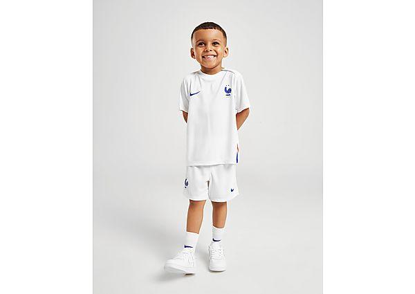 Nike conjunto selección de Francia 2020 2.ª equipación para bebé, White/Blue/Red