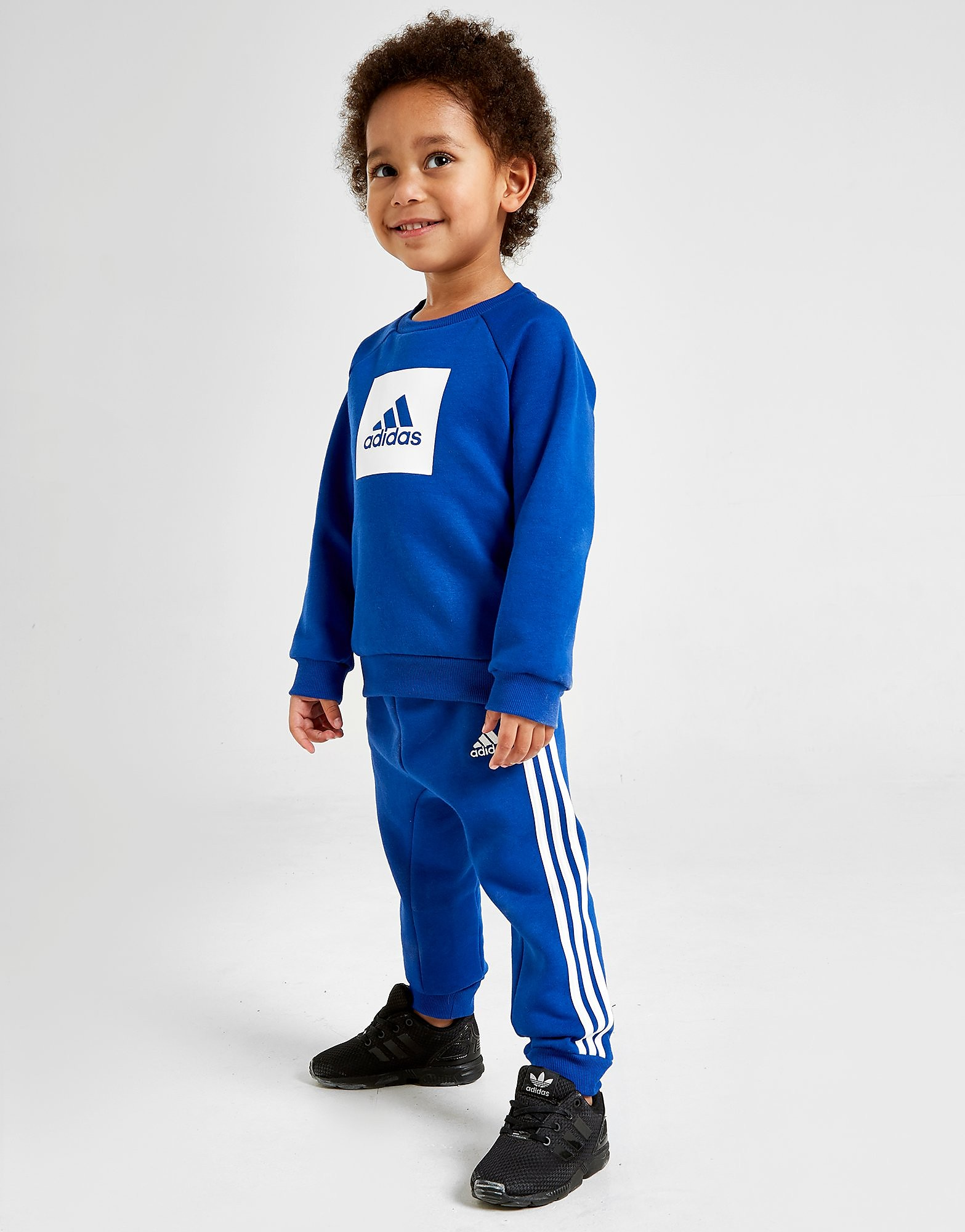 adidas Badge Of Sport Crew Tracksuit Infant Blauw Kind
