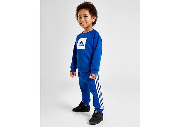 Adidas Badge Of Sport Crew Tracksuit Infant  - Blue - Kind