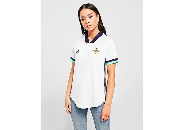 Ropa deportiva Mujer adidas camiseta selección de Irlanda del Norte 2020 2. ª equipación para mujer, White/Blue