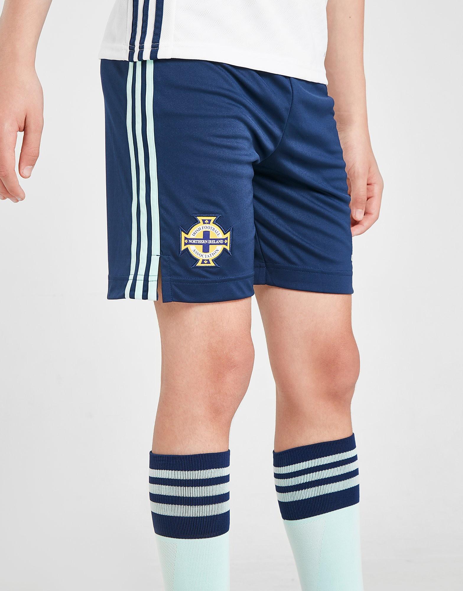 adidas Northern Ireland 2020 Away Shorts Junior PRE ORDER Blauw Kind Blauw