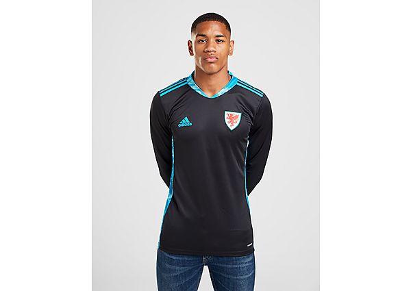 adidas camiseta de portero Wales 2020 2.ª equipación, Black