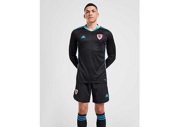 adidas pantalón corto de portero Gales 2020 2.ª equipación, Black