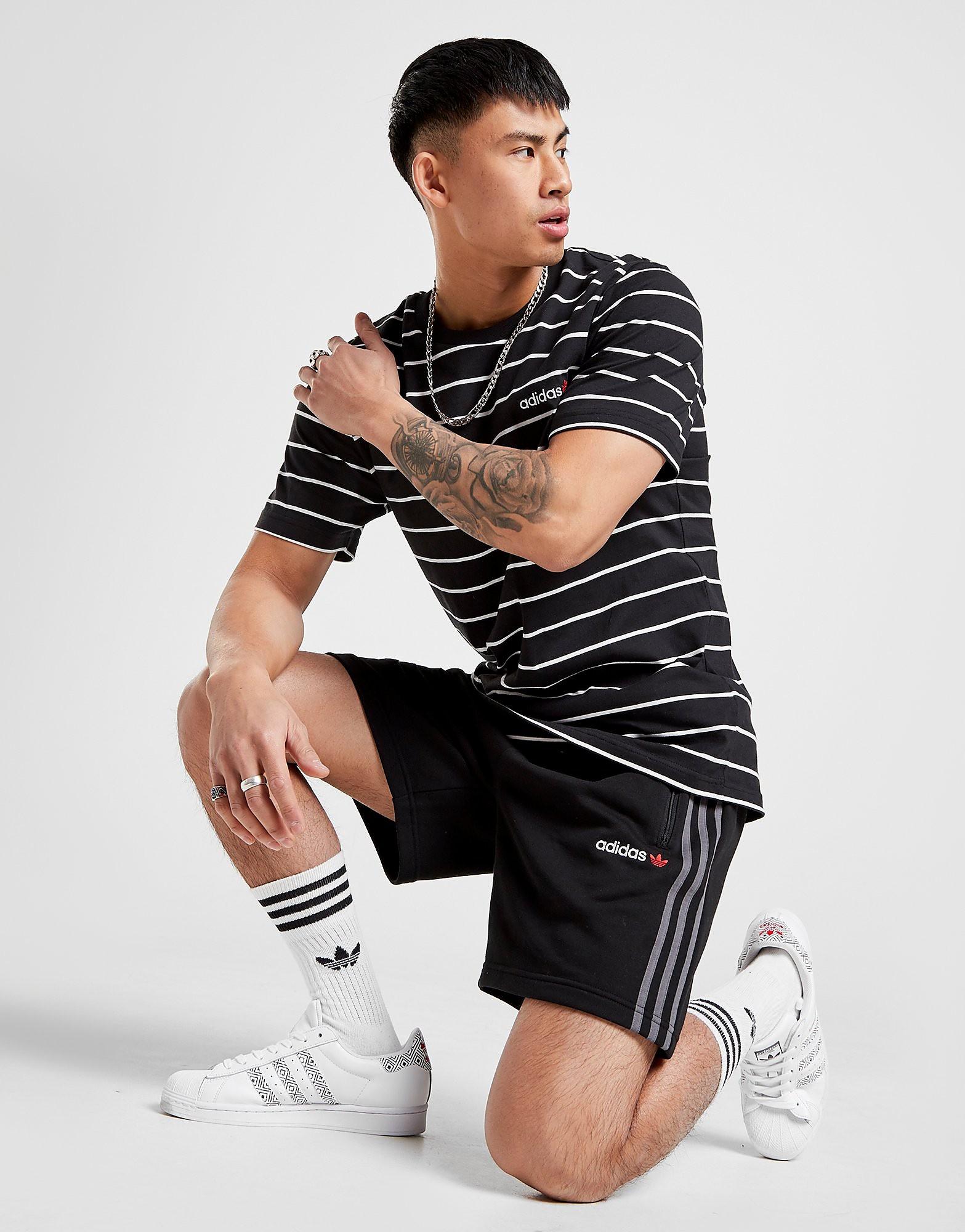 adidas Originals Linear 2 0 Shorts alleen bij JD Zwart Heren Zwart