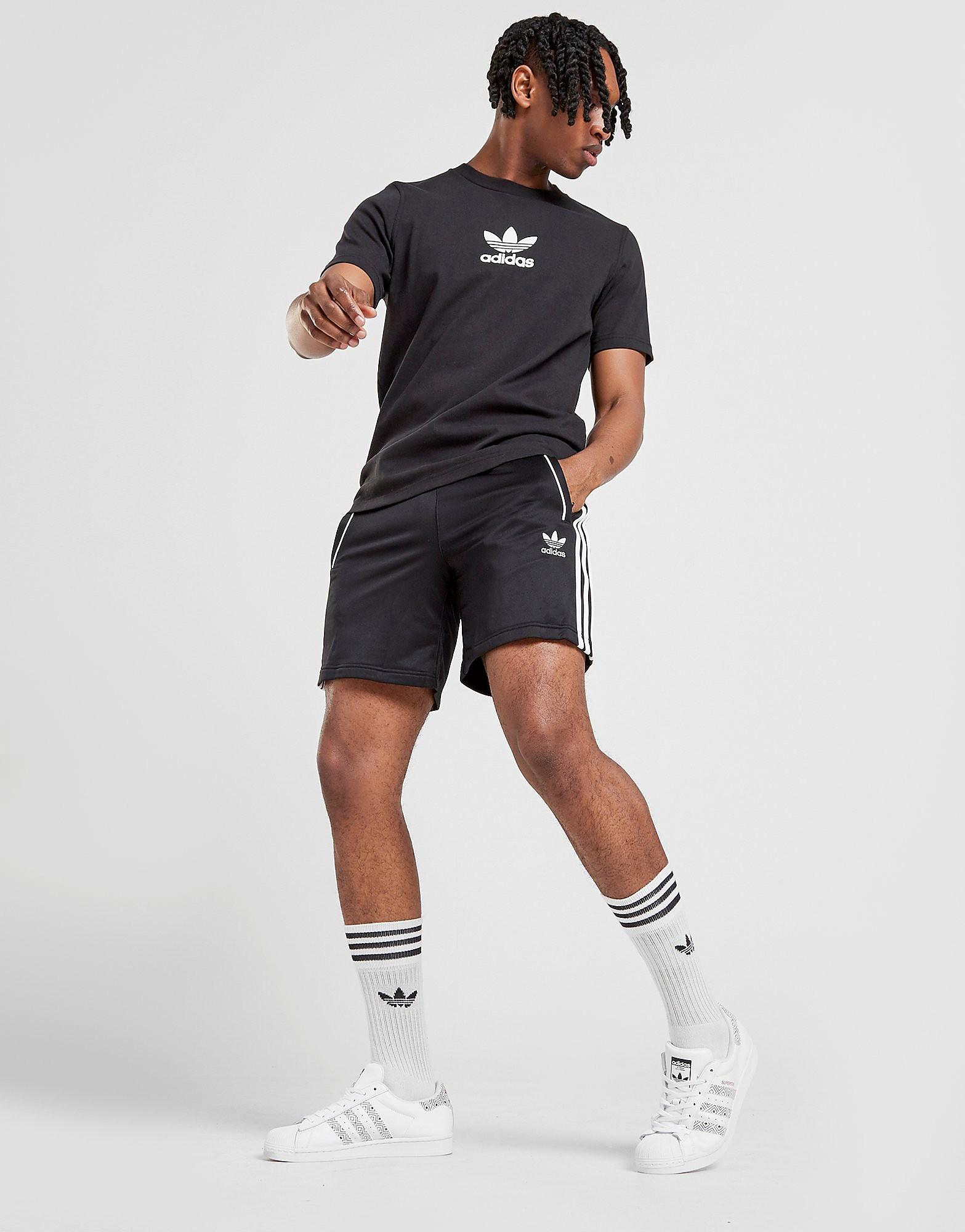adidas Originals Superstar Shorts alleen bij JD Zwart Heren Zwart